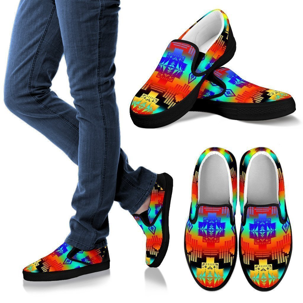 Spring Stampede Men's Slip Ons-6teenth World™-Kid's Sneakers-US8 (EU40)-Vibe Cosy™