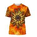 Maori tamanuitera the sun 3d all over printed shirt and short for man and women-Apparel-PL8386-T-shirt-S-Vibe Cosy™
