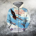 American Air Force Shirts-Apparel-HP Arts-ZIPPED HOODIE-S-Vibe Cosy™