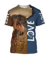 3D Akhal Teke Horse Shirt - Winter Set for Men and Women JJ1613-Apparel-NNK-T-Shirt-S-Vibe Cosy™