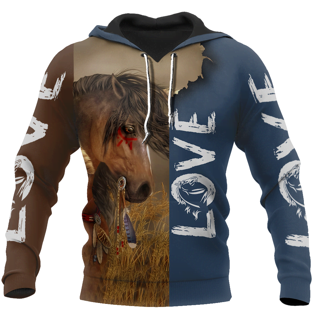 3D Akhal Teke Horse Shirt - Winter Set for Men and Women JJ1613-Apparel-NNK-Hoodie-S-Vibe Cosy™