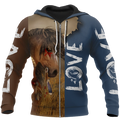 3D Akhal Teke Horse Shirt - Winter Set for Men and Women JJ1613-Apparel-NNK-Zipped Hoodie-S-Vibe Cosy™