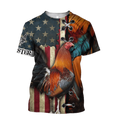 Rooster 3D All Over Printed Shirts for Men and Women AM271201-Apparel-TT-T-Shirt-S-Vibe Cosy™