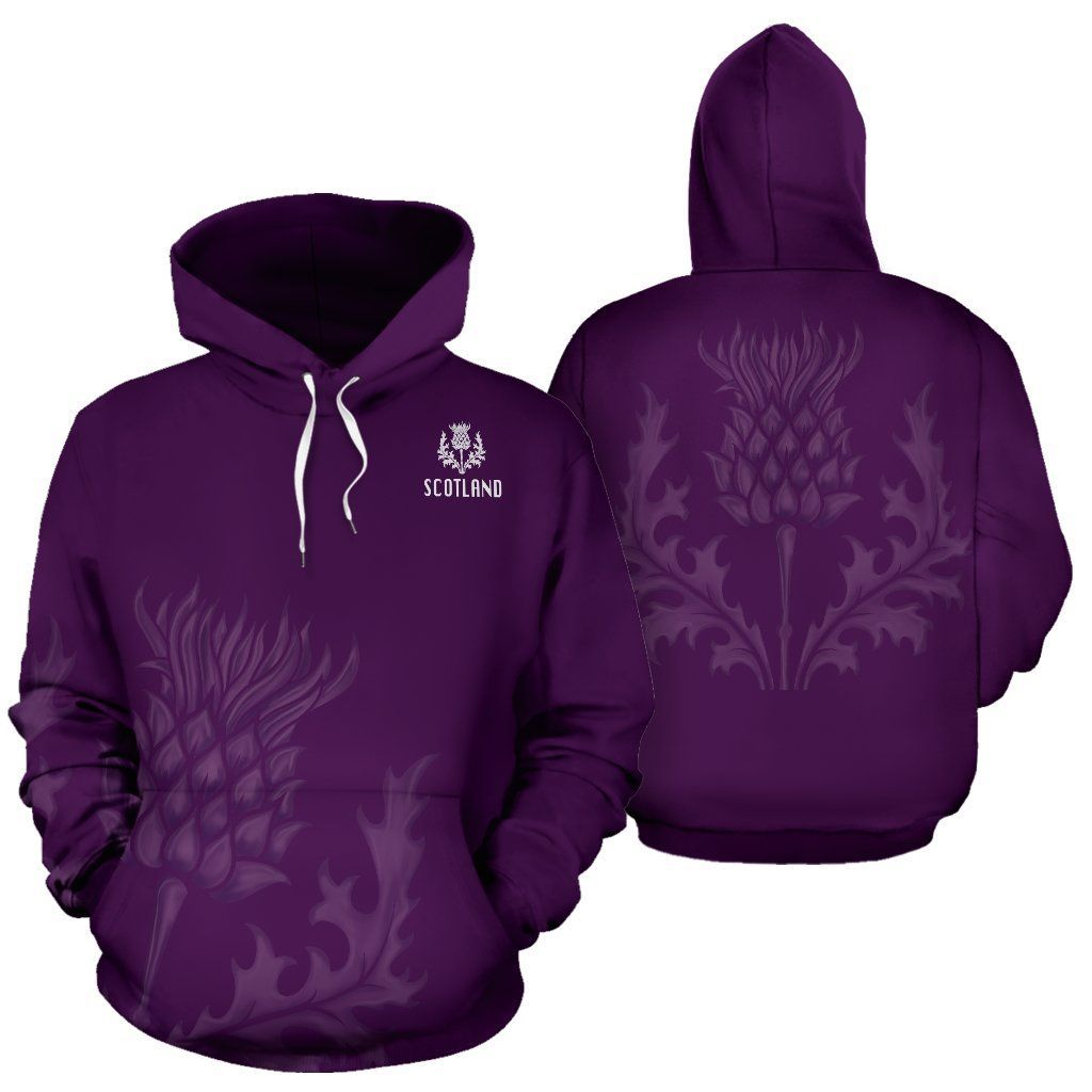 Scotland Hoodie, Purple Thistle All Over Print Hoodie NNK022911-ALL OVER PRINT HOODIES (P)-PL8386-Men-S-Purple-Vibe Cosy™
