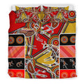 Aboriginal Bedding Set, Kangaroo Dot Painting Patterns-HP