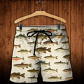 3D All Over Printed North American Fishes Shirts-Apparel-HP Arts-SHORTS-S-Vibe Cosy™