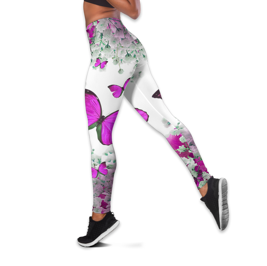 Beautiful Butterfly Combo Tank + Legging QB05192006-Apparel-TA-S-S-Vibe Cosy™