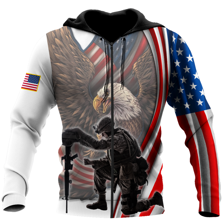 If You Haven't Risked Coming Home Under A Flag US Veteran 3D All Over Printed Shirts For Men and Women