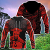HAWAII HOOK POLYNESIAN RED ALL OVER PRINT HOODIES PL14032006-ALL OVER PRINT HOODIES (P)-Phaethon-Hoodie-S-Vibe Cosy™