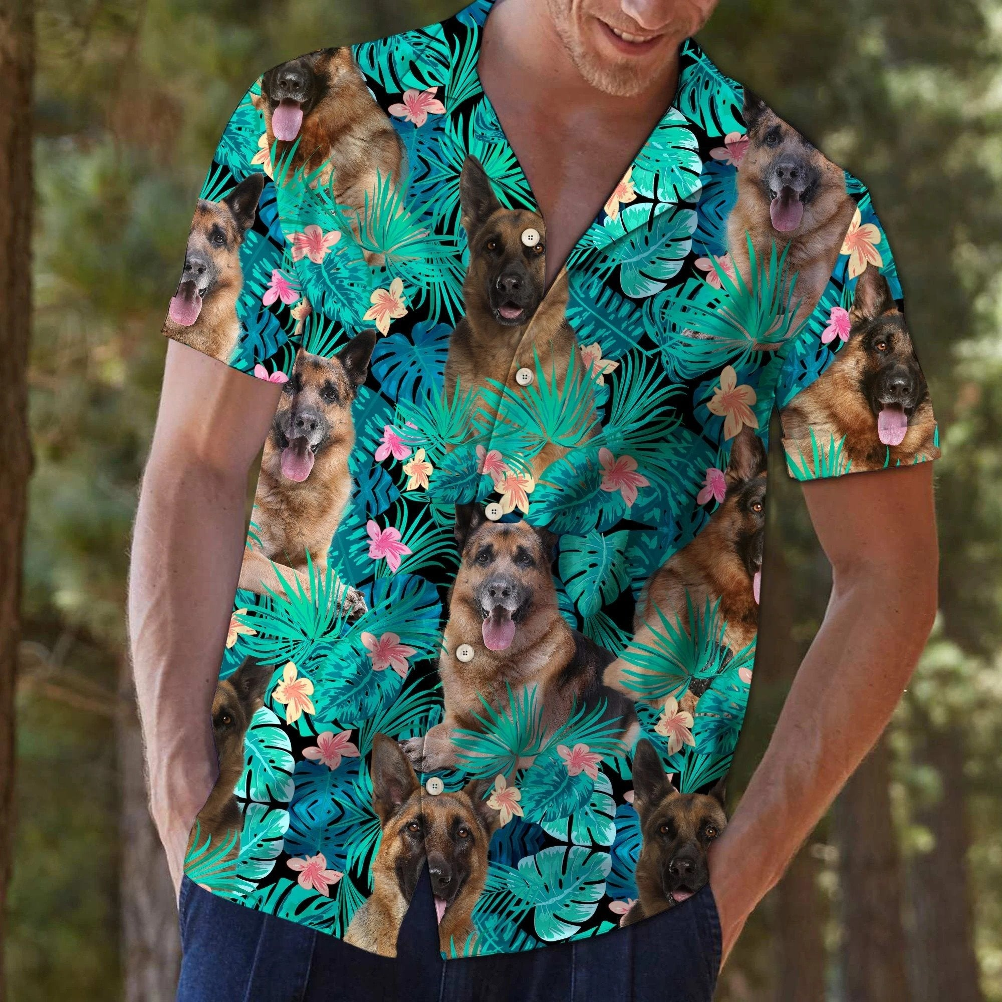 German Shepherd Tropical Hawaii Shirt TA0708202-Apparel-Huyencass-HAWAII SHIRT-S-Vibe Cosy™