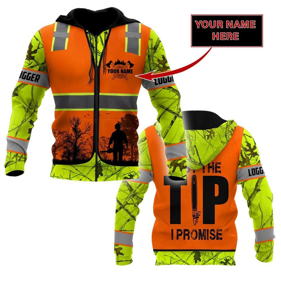 3D Chainsaw Logger Custom Name Unisex Shirts AM112032