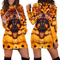 3D All Over Butterfly Hoodie Dress Blanket-Apparel-Khanh Arts-Hoodie Dress-S-Vibe Cosy™
