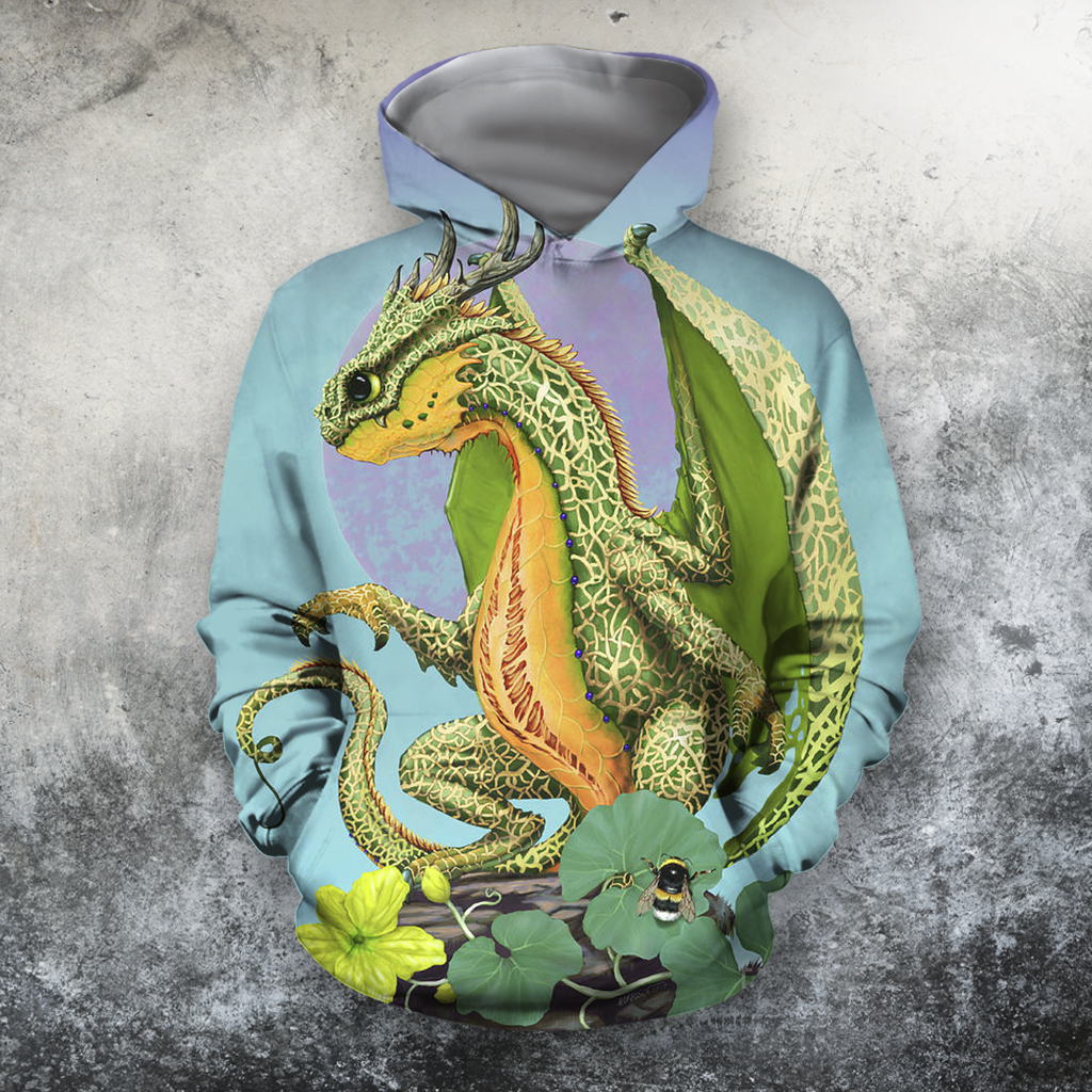 3D All Over Print Cantaloupe Dragon-Apparel-PHLong-Hoodie-S-Vibe Cosy™