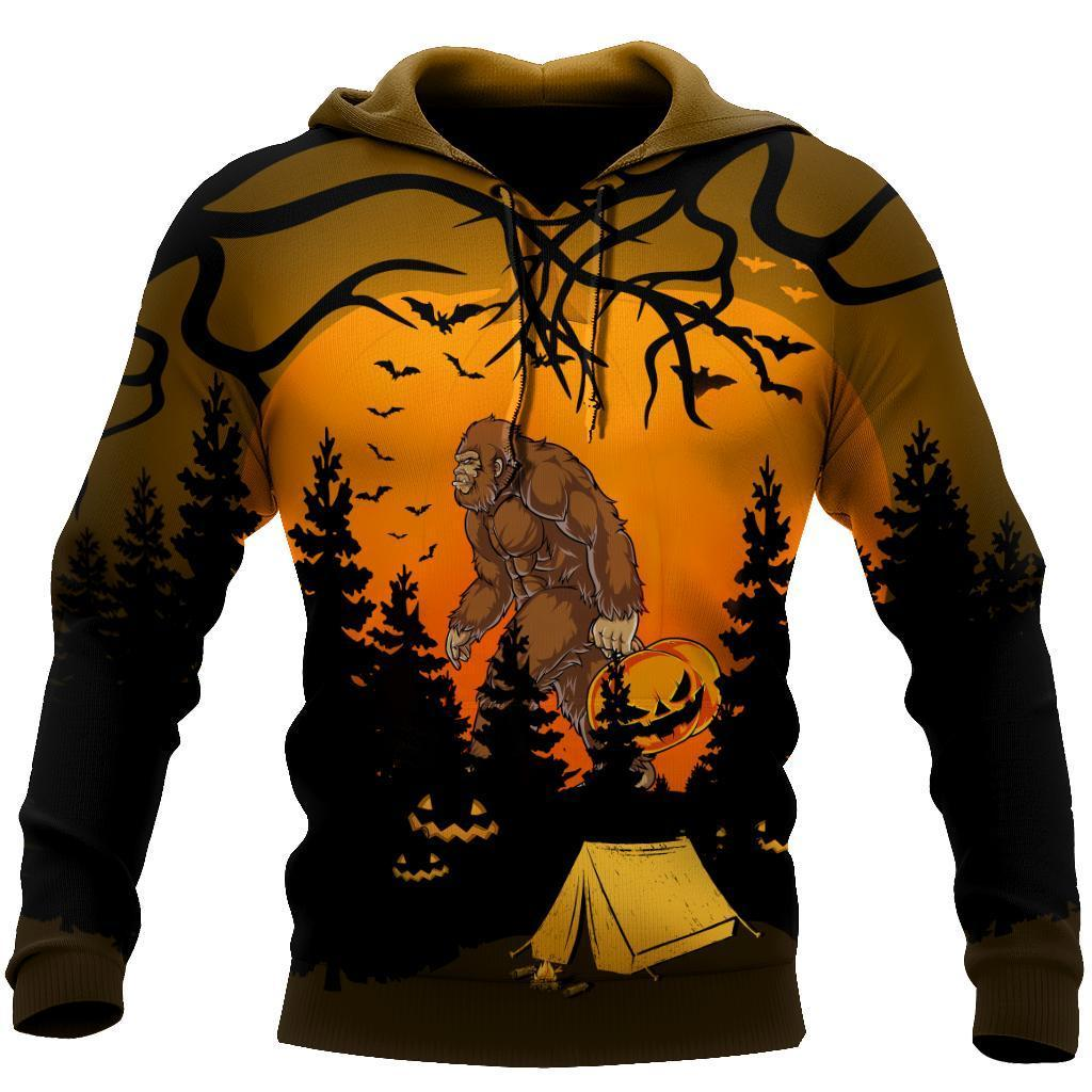 Beautiful All Over Printed Halloween Camping Big Foot Hoodie DQB08172002-MEI