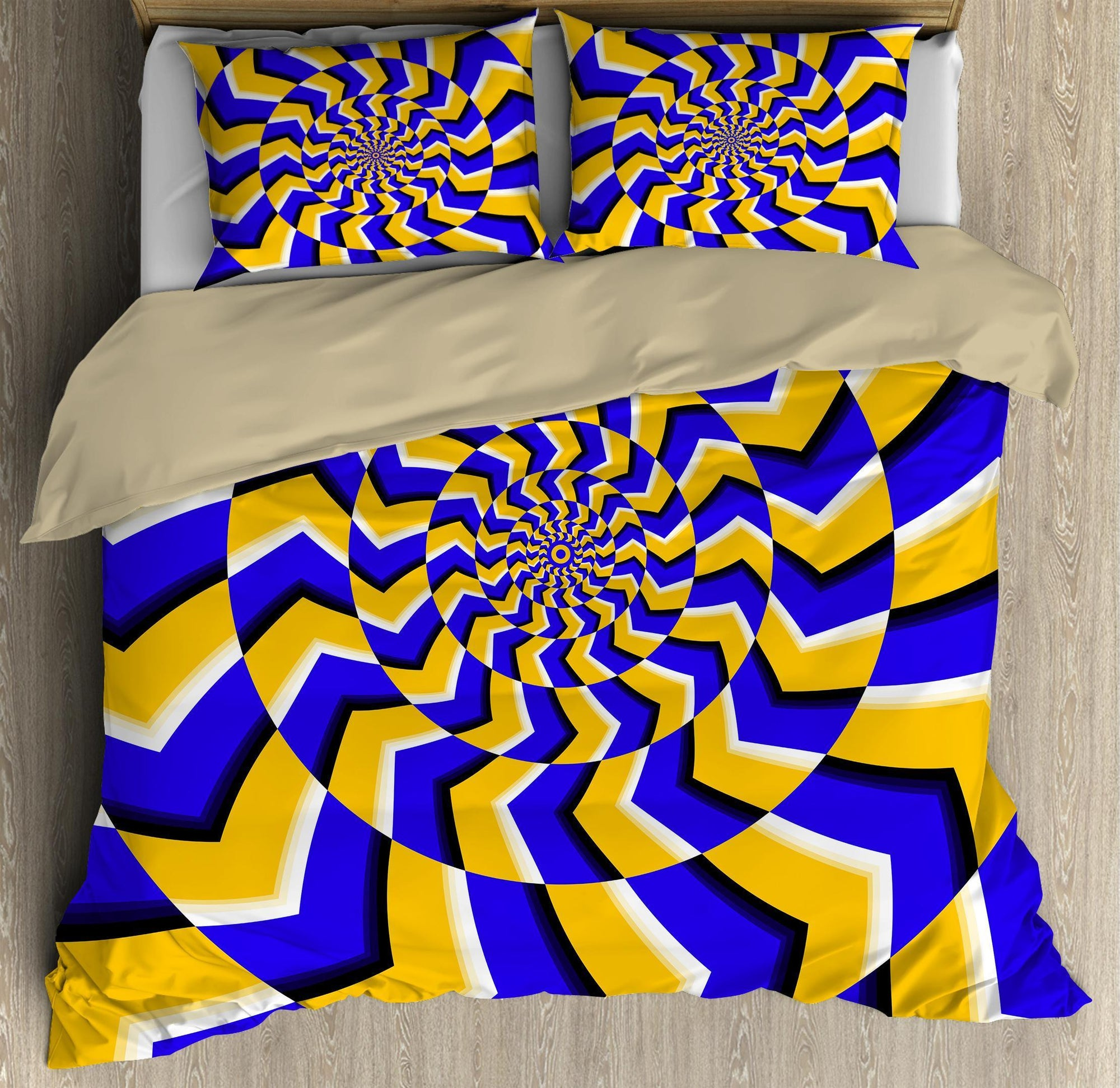 Psychedelic Circle Hippie Bedding Set DQB07152003-TQH-BEDDING SETS-TQH-Twin-Vibe Cosy™