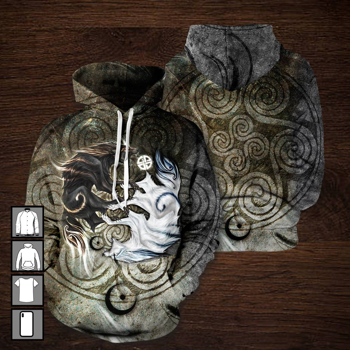 3D All Over Print Legend of Skoll Hoodie-Apparel-HD09-Hoodie-S-Vibe Cosy™