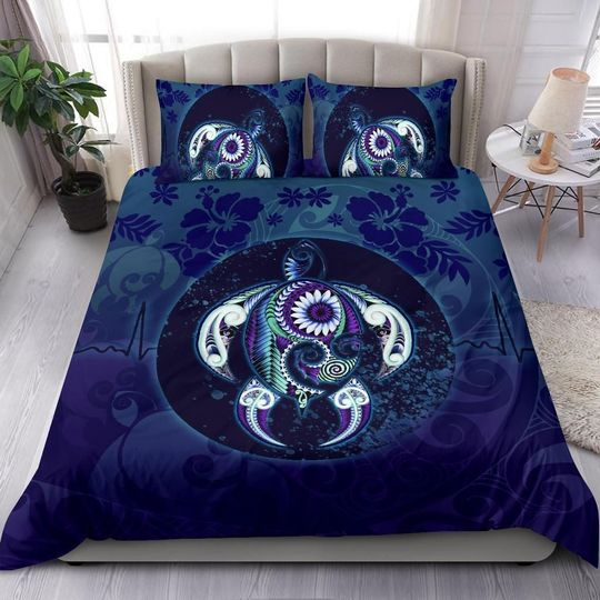 Maori turtle bedding set ocean heartbeat-Bedding-PL8386-Twin-Vibe Cosy™