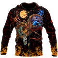 Maui taniwha art new zealand 3d all over printed shirt and short for man and women-Apparel-PL8386-Zipped Hoodie-S-Vibe Cosy™