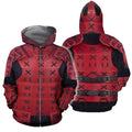 3D All Over Printed Samurai Armor for Men and Women-Apparel-HP Arts-ZIPPED HOODIE-S-Vibe Cosy™
