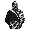 New Zealand Maori Pattern Hoodie - Circle Style J1-Apparel-Khanh Arts-Hoodie-S-Vibe Cosy™