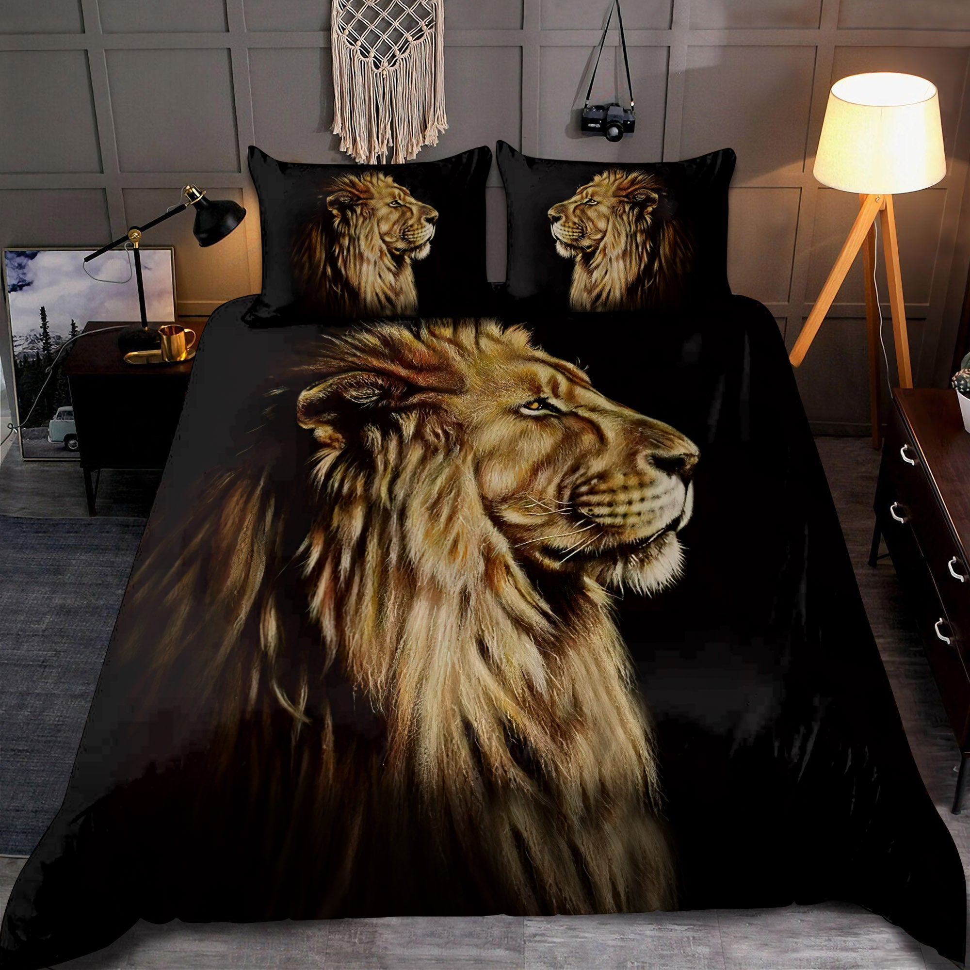 Lion Portrait: The King 3D All Over Printed Bedding Set