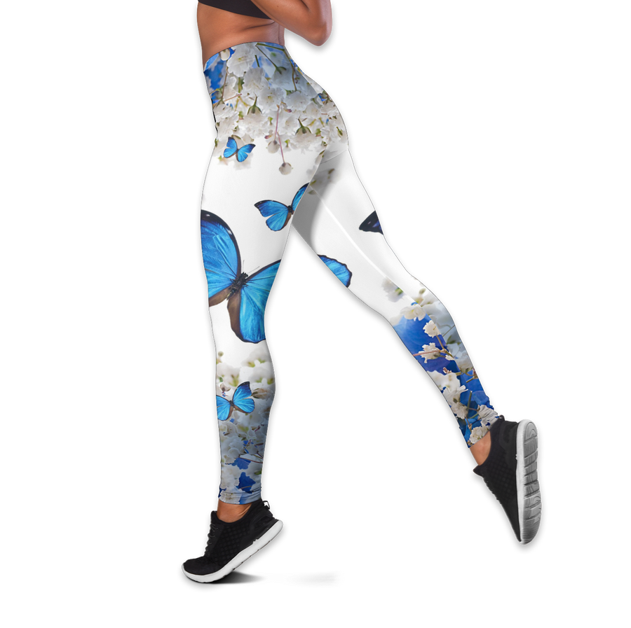 Beautiful Butterfly Combo Tank + Legging QB05192006S-Apparel-TA-S-S-Vibe Cosy™