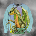 3D All Over Print Cantaloupe Dragon-Apparel-PHLong-Sweatshirt-S-Vibe Cosy™