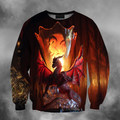 3D All Over Print Dragon Temple-Apparel-PHLong-Sweatshirt-S-Vibe Cosy™