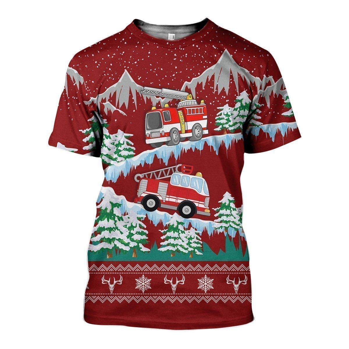 3D All Over Printed Firefighter-Apparel-HP Arts-T-Shirt-S-Vibe Cosy™