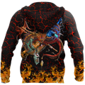Maui taniwha art new zealand 3d all over printed shirt and short for man and women-Apparel-PL8386-Hoodie-S-Vibe Cosy™