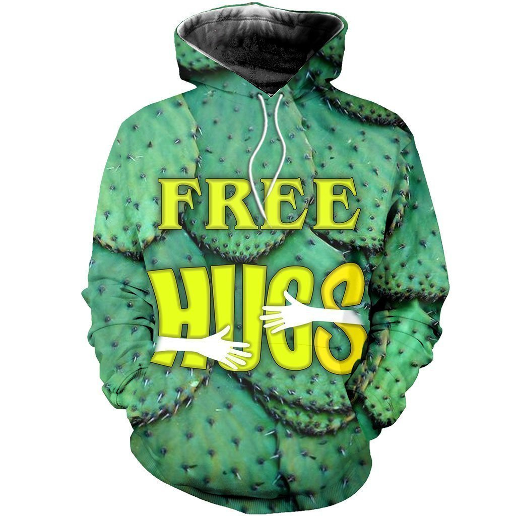 3D All Over Printed Free Hugs Cactus Shirts-Apparel-NTH-Hoodie-S-Vibe Cosy™