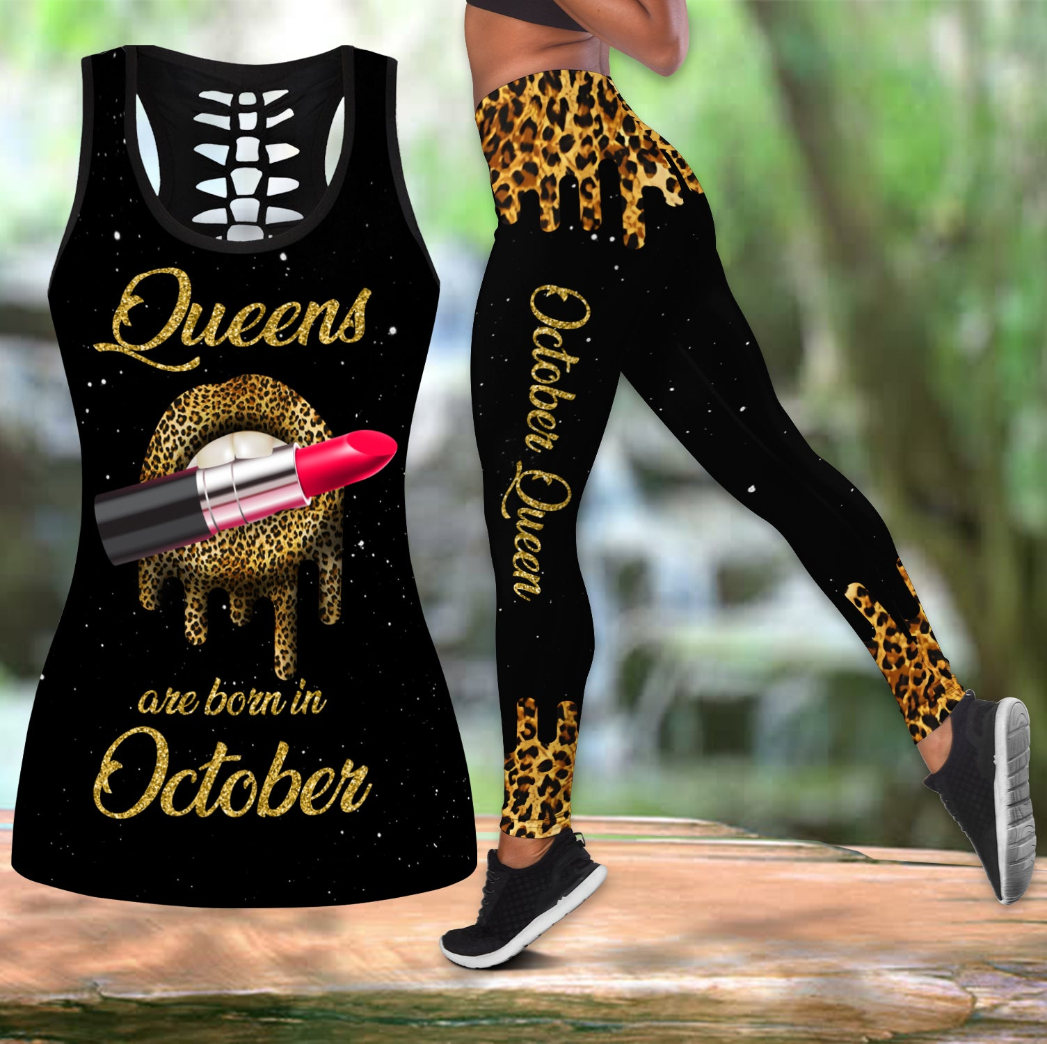 Queens Are Born In October Combo Tank Top + Legging DQB08082012S