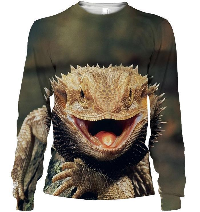 3D All Over Print Central Bearded Dragon-Apparel-HbArts-Sweatshirt-S-Vibe Cosy™