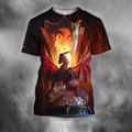 3D All Over Print Dragon Temple-Apparel-PHLong-T-Shirt-S-Vibe Cosy™