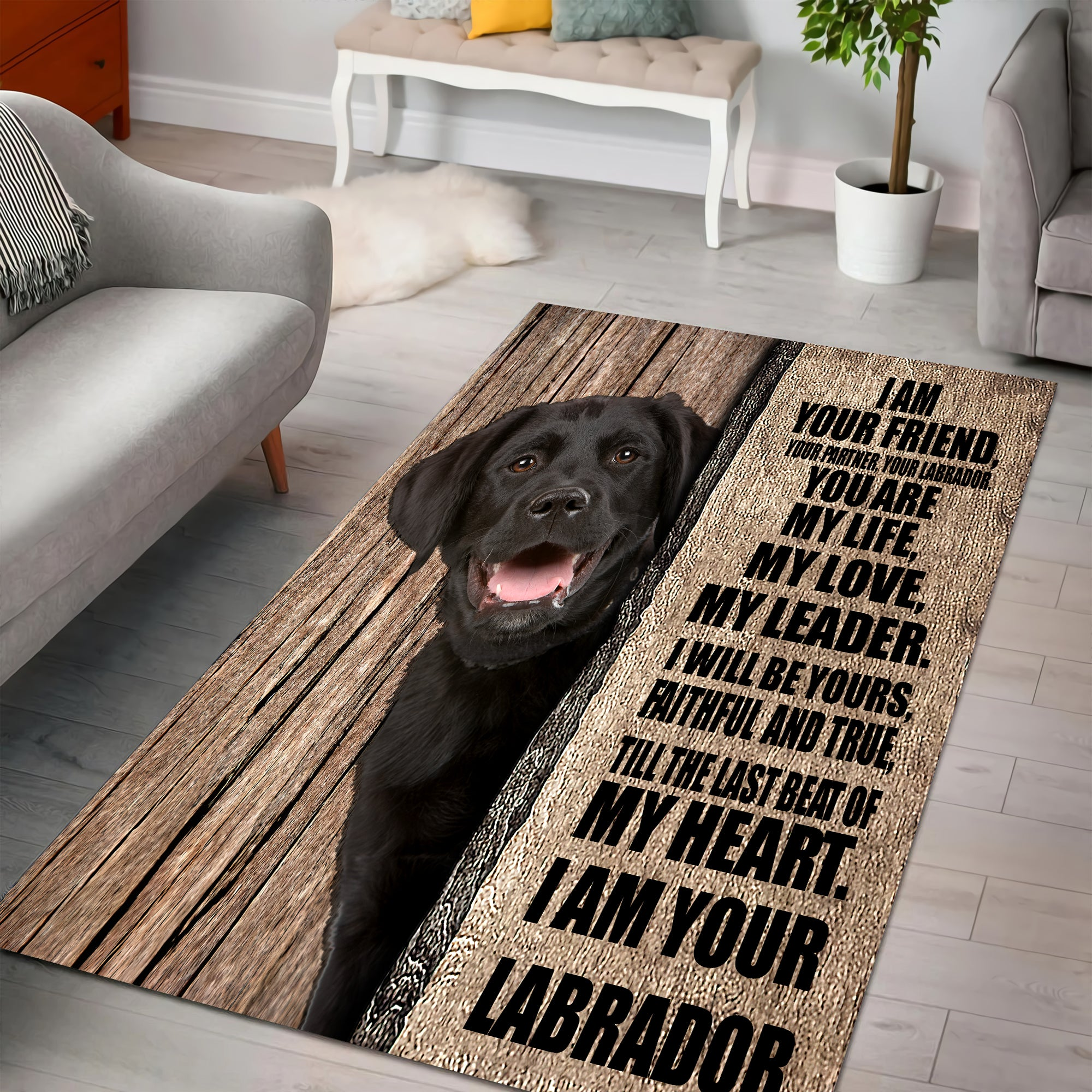 Labrador - Your Friend Rug Full Size HHT03082004-LAM