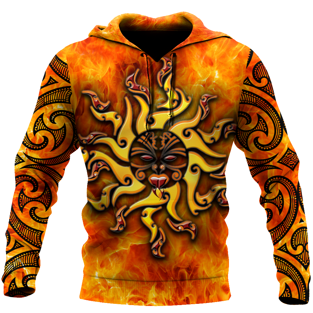 Maori tamanuitera the sun 3d all over printed shirt and short for man and women-Apparel-PL8386-Hoodie-S-Vibe Cosy™