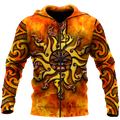 Maori tamanuitera the sun 3d all over printed shirt and short for man and women-Apparel-PL8386-Zipped Hoodie-S-Vibe Cosy™