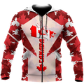 Canada 3dall over printed maple leaf generation-Apparel-PL8386-Zipped Hoodie-S-Vibe Cosy™