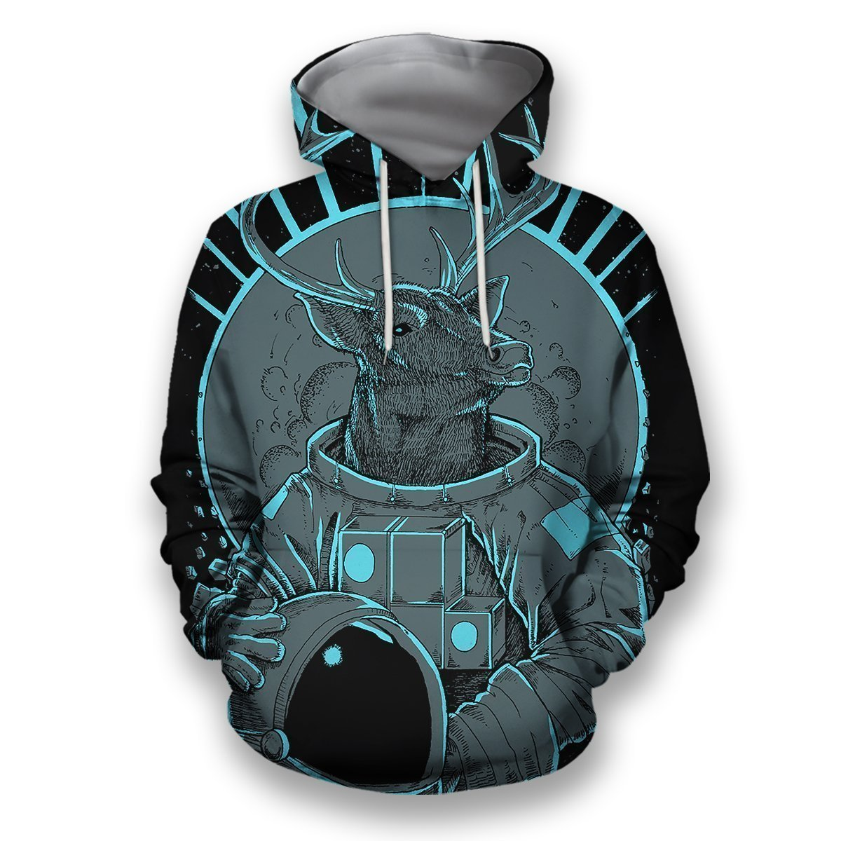 3D all over print deer astronaut-Apparel-HbArts-Hoodies-S-Vibe Cosy™