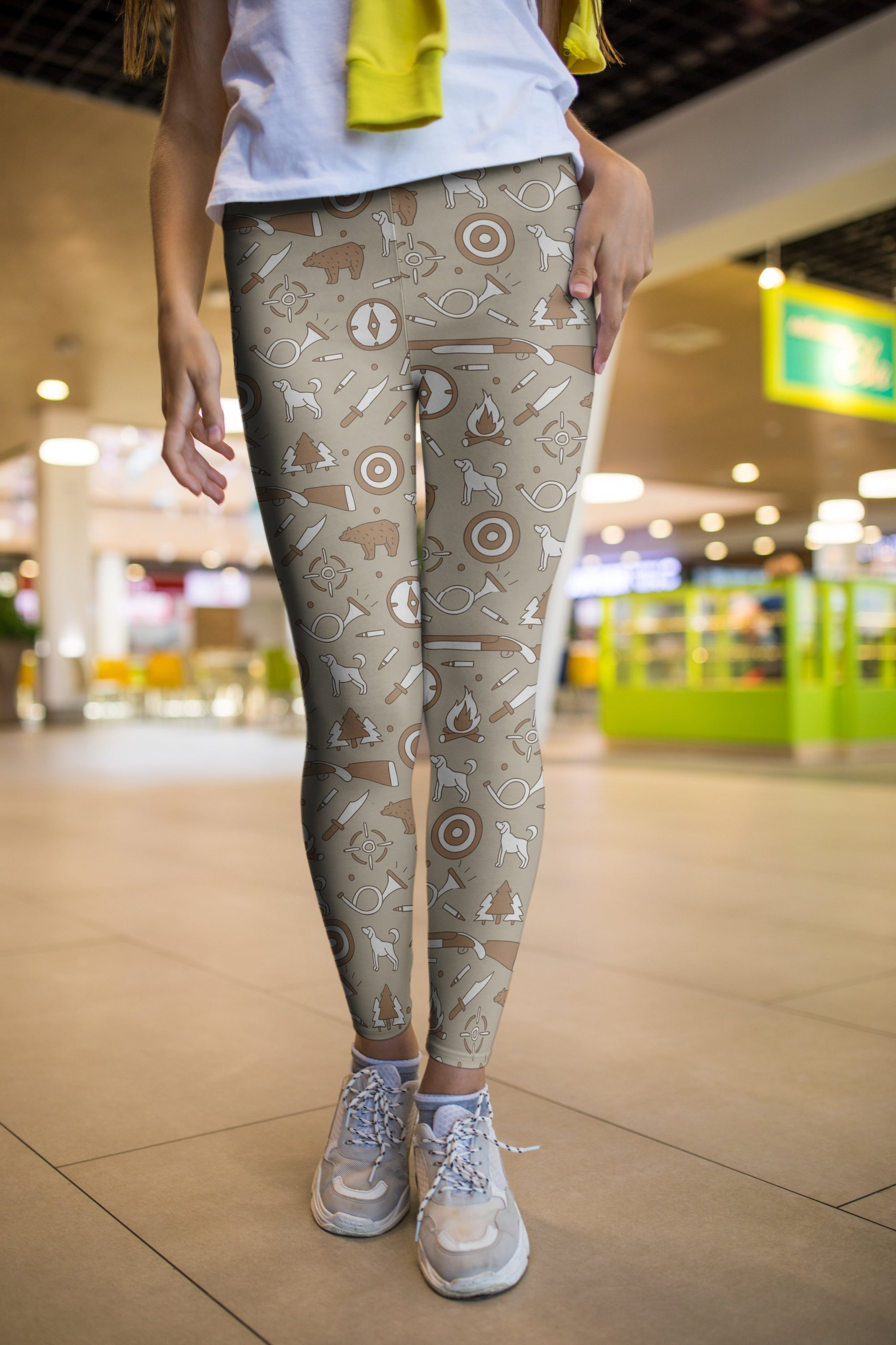 3D All Over Print Hunting Brown Bear Legging-Apparel-Khanh Arts-Legging-S-Vibe Cosy™
