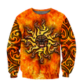 Maori tamanuitera the sun 3d all over printed shirt and short for man and women-Apparel-PL8386-Sweatshirt-S-Vibe Cosy™