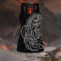 Maori Dream catcher wolf tattoo tank top & leggings outfit for women HHT17072002