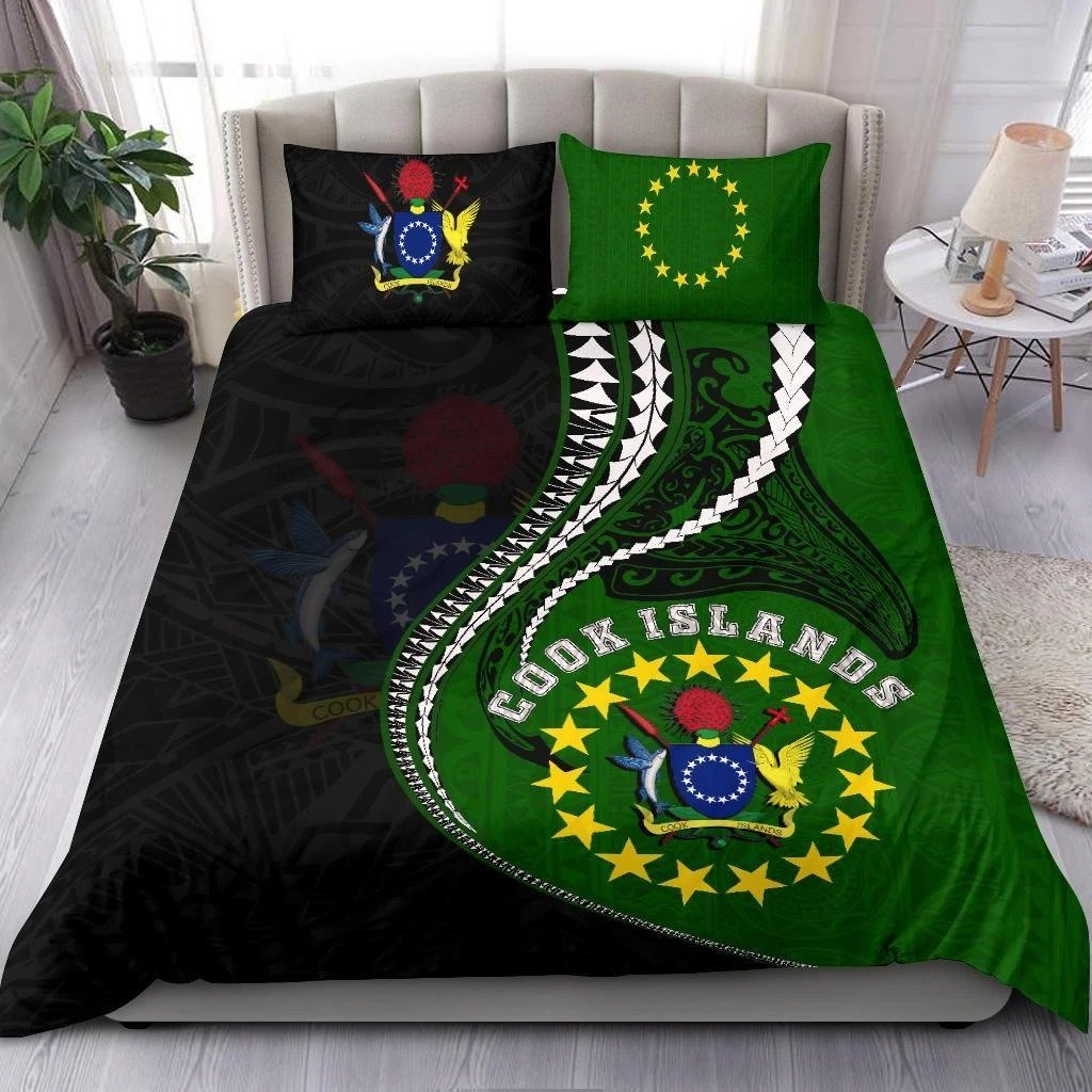 Cook Islands Bedding Set Polynesian Duvet Cover Set Kanaloa Tatau Bedding Set-Bedding Set-Huyencass-Twin-Vibe Cosy™