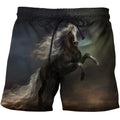 3D All Over Print Black Horse In The Dark Shirts-Apparel-Phaethon-SHORTS-S-Vibe Cosy™