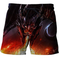 3D All Over Print Dragon With Fire Shirts-Apparel-Phaethon-SHORTS-S-Vibe Cosy™
