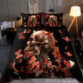 Rose & Skull Art Bedding Set HAC060704-NM-Bedding Set-NM-Twin-Vibe Cosy™