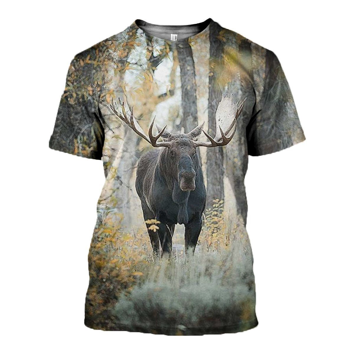 3D All Over Printed Moose Hunting Art Shirts-Apparel-6teenth World-T-Shirt-S-Vibe Cosy™