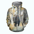 3D All Over Printed Moose Hunting Art Shirts-Apparel-6teenth World-ZIPPED HOODIE-S-Vibe Cosy™