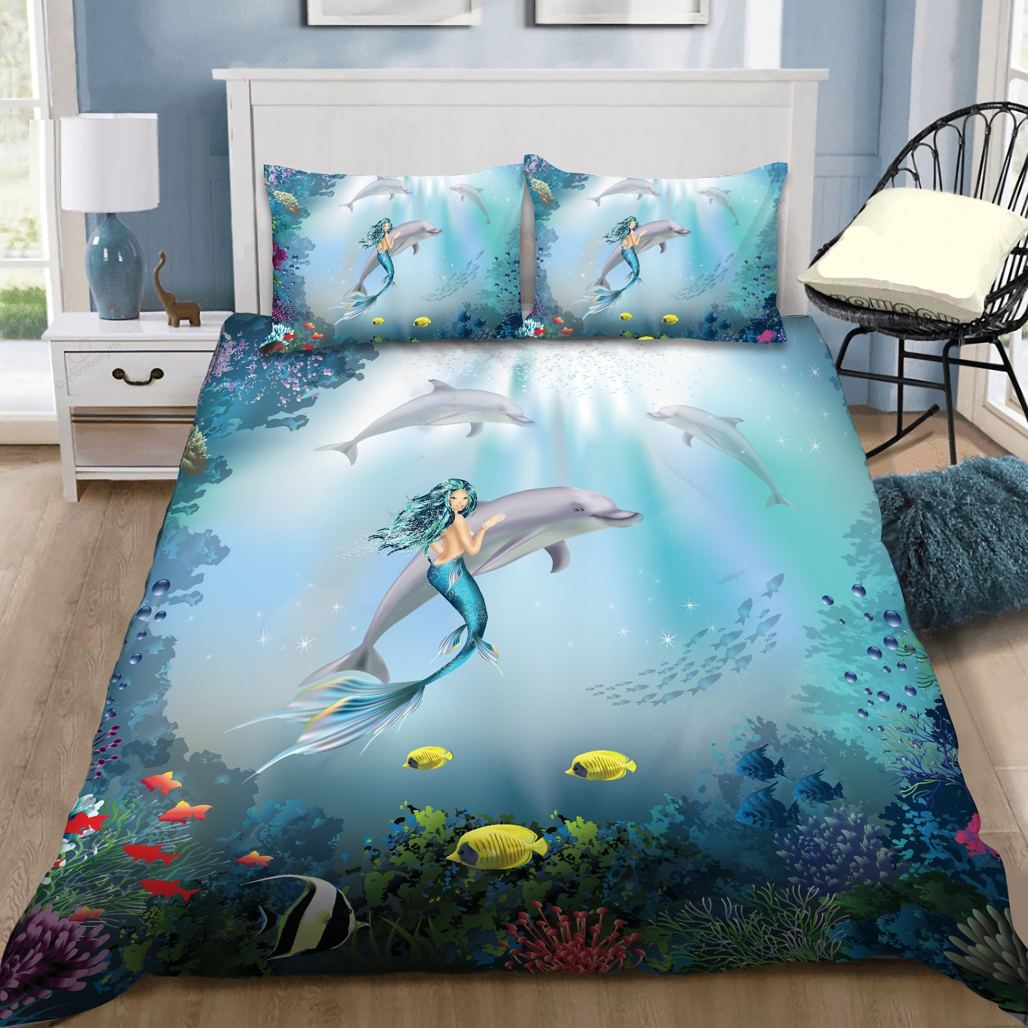 Be A Mermaid And Make Waves Bedding Set by SUN DQB07132002-Quilt-SUN-King-Vibe Cosy™