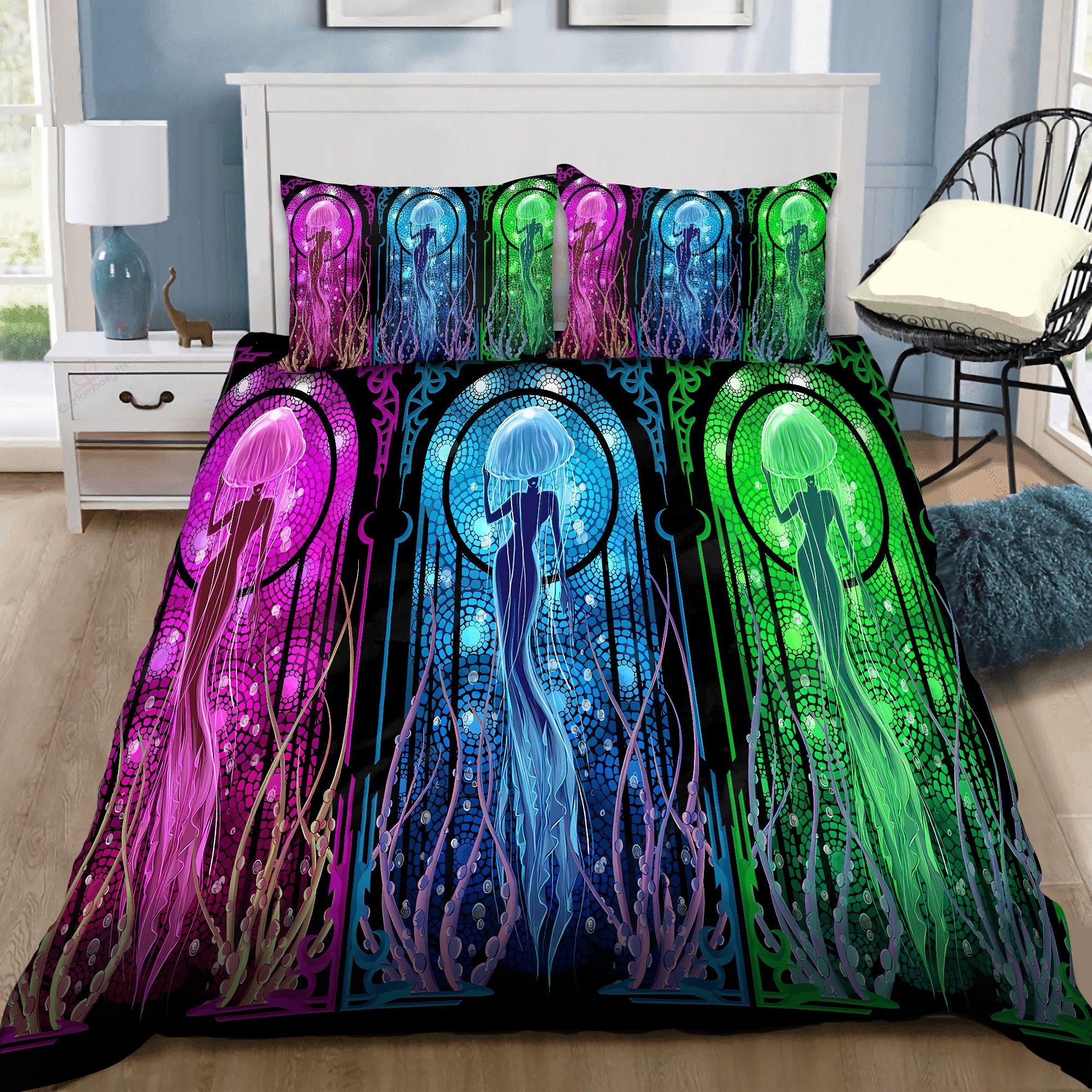Jellyfish Mermaid Dream Bedding Set by SUN DQB07132010-Quilt-SUN-King-Vibe Cosy™
